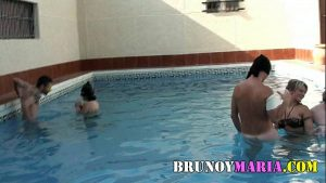 spanish true home sex orgy in the pool filmed teen orgy