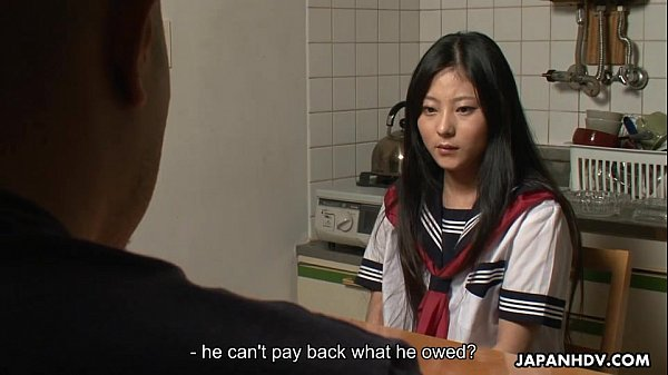 asian adolescent clearing her debt through se teen asian