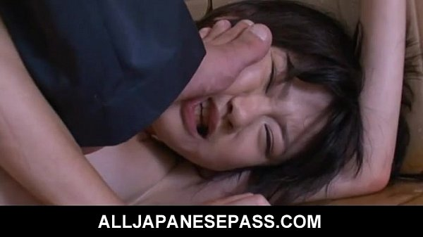 japanese young aoba itou caught with a bottle teen japanese
