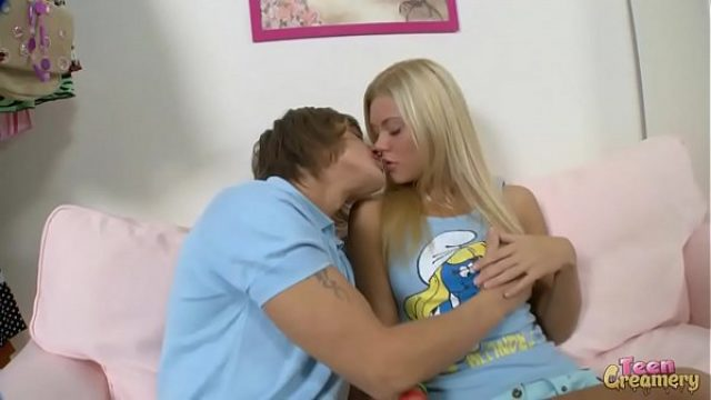 mega hot slim blonde young receives on advant teen blonde