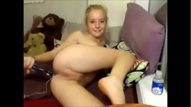 barely legal yellow hair young fills together teen cam