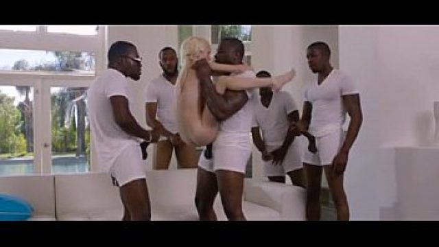 Interracial Teen thin prodigy yellow hair coffee and milk gangbang
